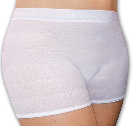 culotte post accouchement caleçon extensible blanc