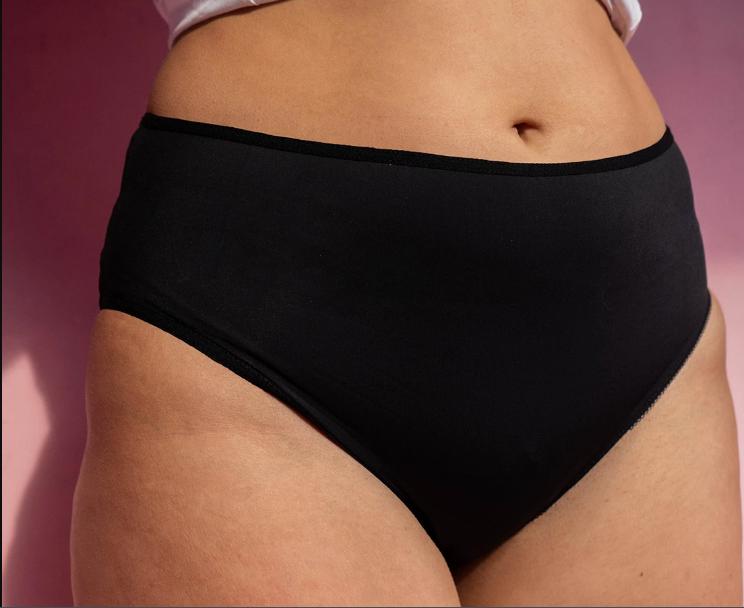 culotte menstruelle noire fempo pour apres accouchement