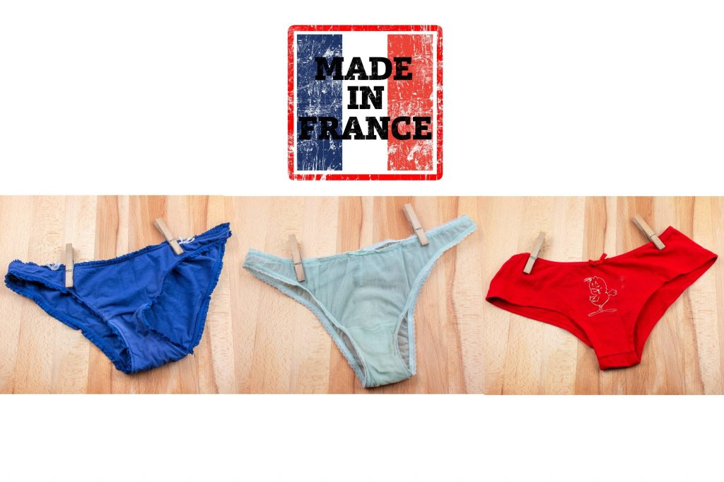 trois culotte françaises bleu blanc rouge