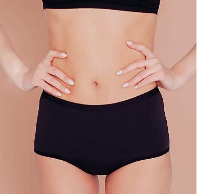 cool period shorty menstruel noir